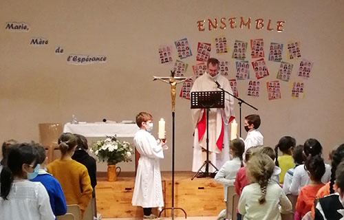 messe de la pastorale de l'école