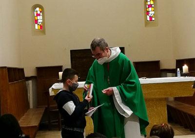 préparation au baptême avec l'école