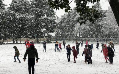 Le Petit Castelet sous la neige